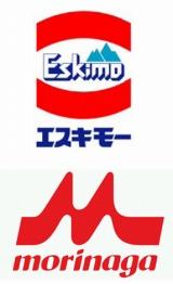 アイスの「エスキモー」ブランド(上)は今年10月より順次「森永乳業」ブランド(下)に変更される