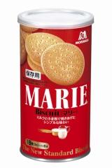 5年間の保存が可能な森永製菓の災害対策商品『マリー缶』
