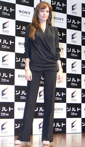 映画『ソルト』プロモーションのため1年半ぶりに来日したアンジェリーナ・ジョリー (C)ORICON DD inc.