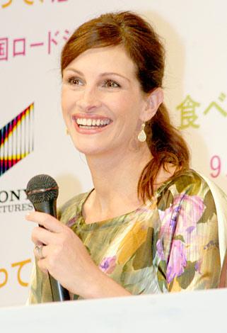 主演映画『食べて、祈って、恋をして』の来日会見に出席したジュリア・ロバーツ (C)ORICON DD inc.