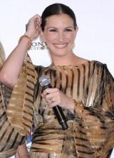 主演映画『食べて、祈って、恋をして』のジャパンプレミアイベントに参加したジュリア・ロバーツ