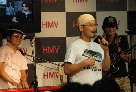 (左から)さかいゆう、椎名純平、スガシカオによるスペシャルセッションも実現 (C)ORICON DD inc.