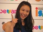 新SNSサービス『be amie』のイメージキャラクターに選ばれ、発表会見に参加した武井咲。