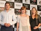 映画『バイオハザードIV アフターライフ』PRのため来日した(左から)ウェントワース・ミラー、ミラ・ジョヴォヴィッチ、アリ・ラーター (C)ORICON DD inc.