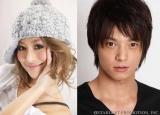 テレビ番組で結婚・妊娠を生報告した人気モデル・山本優希(左)とお相手の三浦力