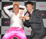 DVD『JINRUIの誕生』の発売記念イベントを行った、JINRUIの(左から)加賀谷くん(元ハウス加賀谷)、シンカ(元松本キック) (C)ORICON DD inc.