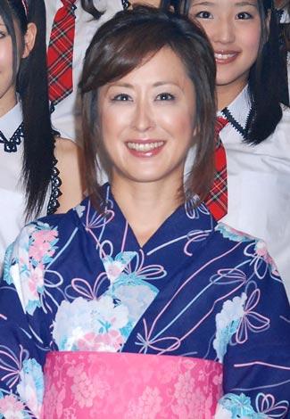 『AKB48 TeamOgi祭』最終公演前に報道陣の取材に応じた城之内早苗 (C)ORICON DD inc.
