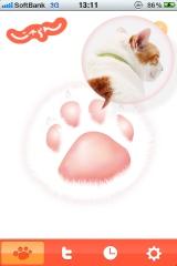 """人気猫""""にゃらん""""の肉球をイメージしたiPhone専用アプリ『にゃらんの肉球なにょだ』"""