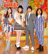 『笑っていいとも!』の新レギュラーに決まった(左から)AKB48・秋元才加、佐々木希、ロッチ (C)ORICON DD inc.