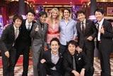 ゲストのトム・クルーズとキャメロン・ディアスを囲む『しゃべくり007』の出演者たち (c)日本テレビ