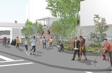 ナイキジャパンが整備工事支援を行う「渋谷区立宮下公園」、整備後のイメージ