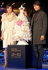 『MIDTOWN CHRISTMAS 2010』イルミネーション点灯式に参加した(左から)松嶋菜々子とソン・スンホン (C)ORICON DD inc.