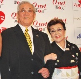 『「いい夫婦の日」パートナー・オブ・ザ・イヤー 2010』に選ばれた、野村克也&沙知代夫妻 (C)ORICON DD inc.