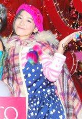 東京・渋谷パルコのクリスマスツリー点灯式に出席した篠原ともえ (C)ORICON DD inc.
