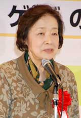『2010 ユーキャン新語・流行語大賞』で「ゲゲゲの〜」が大賞に選ばれた武良布枝さん(「ゲゲゲの女房」原作者)