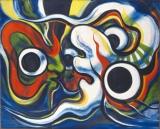 『にらめっこ』(1978)所蔵先:川崎市岡本太郎美術館 (C)岡本太郎記念現代芸術振興財団