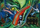 『森の掟』(1950)所蔵先:川崎市岡本太郎美術館 (C)岡本太郎記念現代芸術振興財団
