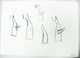 『太陽の塔』構想スケッチ(1967)所蔵先:岡本太郎記念館 (C)岡本太郎記念現代芸術振興財団