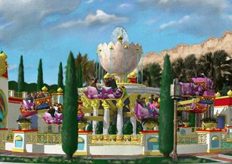 7月18日のオープンが決まったTDS新アトラクション『ジャスミンのフライングカーペット』 (C)Disney