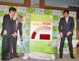 川合俊一が『2011年花粉症対策メディアセミナー』に出席、累積温度計『花粉温度なう!』がお披露目された (C)ORICON DD inc.