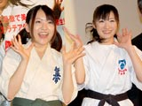AKB48・内田眞由美(左)、武田梨奈にじゃんけん敗れる!