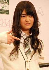 自転車協会『BAAマーク』新CM発表会に出席したAKB48の前田亜美 (C)ORICON DD inc.
