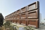 明治製菓大阪工場に出現した『明治ミルクチョコレート』を模した巨大な看板「ビッグミルチ」