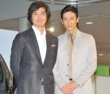 トヨタ『MARK X ZiO』新CM発表会に出席した(左から)佐藤浩市、伊勢谷友介 (C)ORICON DD inc.