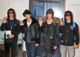 メンバーのミルが腰痛悪化のため4人で来日したMBLAQ (左から スンホ、ジュン、チョンドゥン、ジオ)  (C)ORICON DD inc.