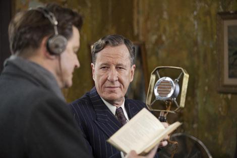『シャイン』でオスカーに輝いたジェフリー・ラッシュは助演男優賞にノミネート 映画『英国王のスピーチ』より (C)2010 See-Saw Films. All rights reserved.