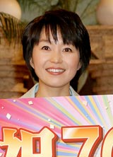 NHKの生活情報番組『ためしてガッテン』の放送700回目の収録後に会見を行った小野文惠アナウンサー