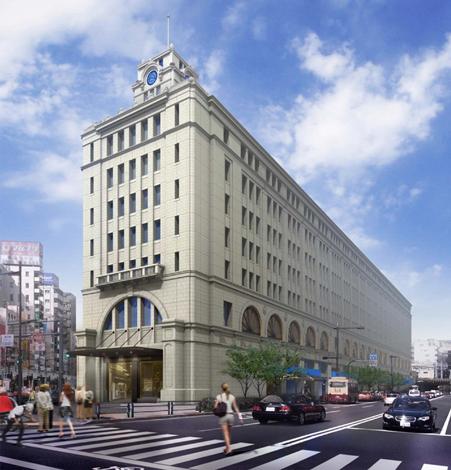 2012年春に完成を目指す東武鉄道浅草駅リニューアル後のイメージ