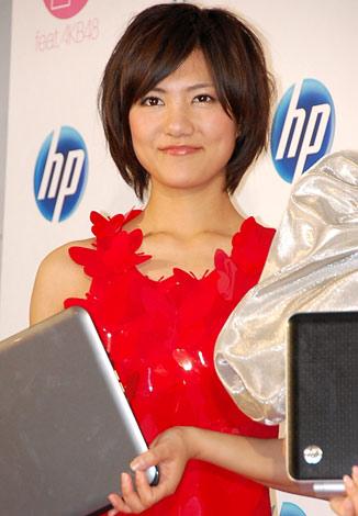 日本HP社『個人向けPC』の新製品発表会に出席したAKB48の宮澤佐江 (C)ORICON DD inc.