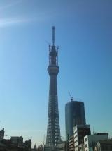 高さ634mに到達した東京スカイツリー 【18日午後2時過ぎ=東京墨田区】 (C)ORICON DD inc.