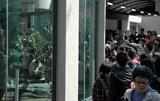 パンダを一目見ようと約3000人が列を作った (C)ORICON DD inc.