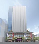 「歌舞伎座」外観デザイン完成予想図(提供:松竹株式会社、株式会社歌舞伎座)