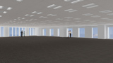 「歌舞伎座」オフィス基準階の完成予想図(提供:松竹株式会社、株式会社歌舞伎座)
