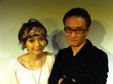 片岡K氏(右)と主演の新人女優・星野優花