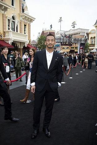 映画『パイレーツ・オブ・カリビアン/生命の泉』USプレミアに招待された中田英寿