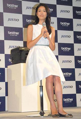 プリンター・複合機『ジャスティオ』の新製品発表会に出席した松下奈緒 (C)ORICON DD inc.