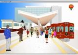 富士吉田駅の名称を変更し、7月より誕生する富士急行線『富士山駅』ホームのイメージ