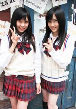 NMB48のキャプテン山本彩(右)と渡辺美優紀(左)(C)ORICON DD inc.