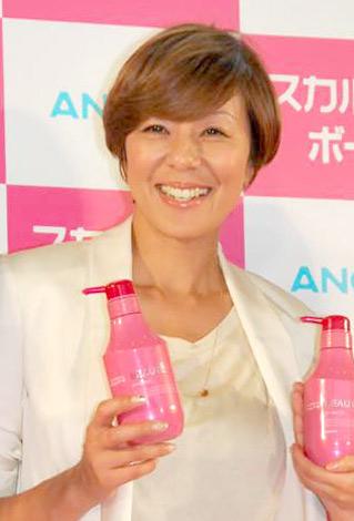女性用頭皮ケアシャンプー『スカルプD ボーテ』の新商品および新CM発表会に出席したRIKACO (C)ORICON DD inc.