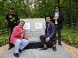 「ふうれん望湖台自然公園」内の星守る犬メモリアル石碑