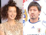 (左から)加藤ローサ、松井大輔選手 (C)ORICON DD.inc