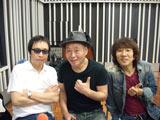 『坂崎幸之助と吉田拓郎のオールナイトニッポンGOLD』で12年ぶりに再会した吉田拓郎(左)と泉谷しげる(中央)