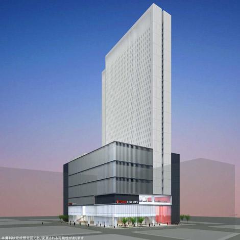 複合ビル・新宿東宝ビルの完成想定図