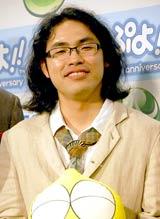 ニンテンドーDS用ソフト『ぷよぷよ!!』のCM完成披露会に出席したロッチ・中岡創一