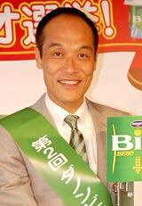 『第2回ダノンビオ選挙』開始イベントに出席した東国原英夫氏