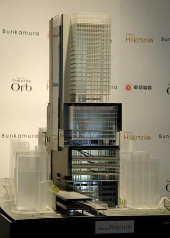 2012年春にオープン予定『渋谷ヒカリエ』の模型 (C)ORICON DD inc.
